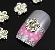 10pcs DIY Lovely Flower Alloy Nail Art Decoration