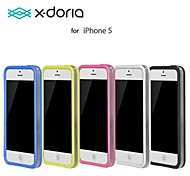 X-doria Ultra-Thin Transparent TPU + PC Frame Double Color Border Bumpers iPhone 5s
