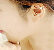 perla creativa u-forma de clip de oreja de oro