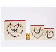 Lureme Fashion Heart Floral Pattern  Gift Bag(1 Pc)
