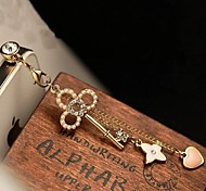 Pearl Keys Heart 3.5mm Anti-dust Plug for iPhone 5 and Others