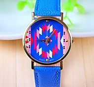 Women's Fashion Style Leather Band Quartz Analog Wrist Watch