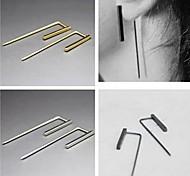 shixin® Art und Weiselegierungsohrstecker (golden, silbern) (1 Paar)