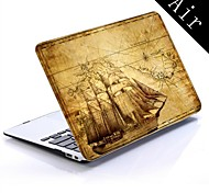 Old Map Design Full-Body Protective Plastic Case for 11-inch/13-inch New MacBook Air