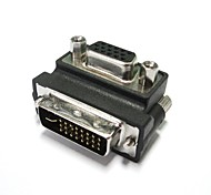 Right Angled 90 Degree VGA SVGA Female To DVI 24+5 Male DVI to VGA LCD Adapter Free Shipping