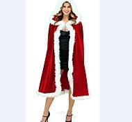donne adulte stravaganti mantello rosso costume di natale