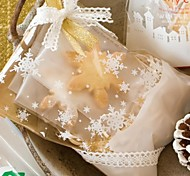 10PCS White Snowflower Plastic Pastry Food Package Take-out Package
