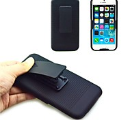 Black Rubberized Case Plus Rotation Belt Clip Holster Stand for iPhone 6