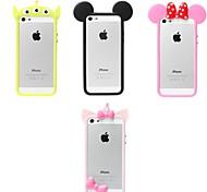 Для Кейс для iPhone 5 Защита от удара Кейс для Бампер Кейс для 3D в мультяшном стиле Мягкий Силикон iPhone SE/5s/5