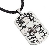 Men's Skull of The Cross Pendant Necklace