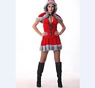 carino donne Cappuccetto rosso velluto costume di natale