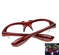 Shiny 3LED + Music Glasses Night Market (Red  Box)