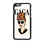 GAGA Woman Design Aluminum Hard Case for iPhone 6 Plus