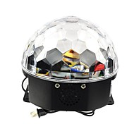Rgb 6x3w llevó mp3 cristal fiesta disco club de dj pub bola mágica luz laser de la etapa (AC100-240V)