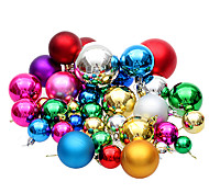 Set Of 36 Christmas Ornament Colorful Ball ,Plastic