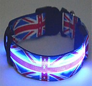 The UK Flat Style Pet Flashing Collar(Assorted Size)