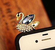 Cute Swan 3.5mm Anti-dust Plug for iPhone 6 and Others(Random Colors)