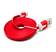 GRIS 1M 3.28FT USB2.0 Male to Micro USB Male Flat USB Cable Free Shipping