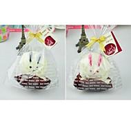 Birthday Gift Rabbit Shape fiber Creative Towel (Random Color)