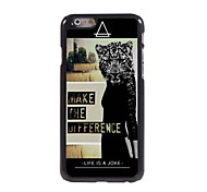 Make the Different Leopard Women Design Aluminum Hard Case for iPhone 6