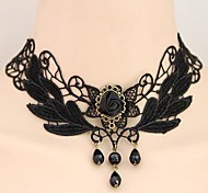 European Style Fashion Vintage Lace Flower Necklace