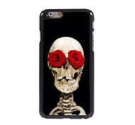 Rose Skull Design Aluminum Hard Case for iPhone 6