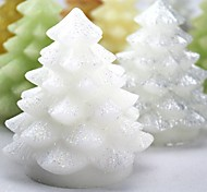 Mini Cute Christmas Tree Style Paraffin LED Twinkle Candle with Yellow Light - (CR2032 x 1)