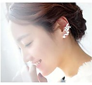 Women's Full Diamond Pearl Ear Clips