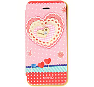 Korean Version Cloth Flowers Series Style Rose Colors Wave Bottom Lace Love PU Leather Full Body Cases for iPhone 5/5S