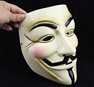 Popular Yellow V for Vendetta Plastic Mask for Halloween