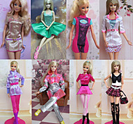 Princess Costumes For Barbie Doll Pink Dresses For Girl's Doll Toy