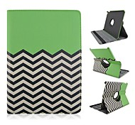 Fashion Painted Wave Pattern PU Tablet Protect Case with Stand for iPad Air 2