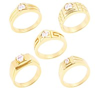 Mens Lmitation Gold Diamond Rings(Hualuo Jewelry)