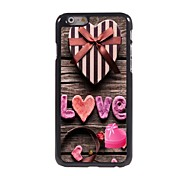 Pink Love Design Aluminum Hard Case for iPhone 6