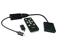 mhl micro usb naar vga adapter hdtv met afstandsbediening samsung galaxy s2 s3 s4 tab tablet 3 HDMI
