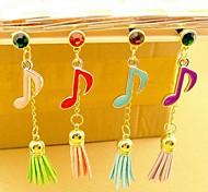 Musiknotation Quasten 3.5mm Anti-Staub-Stecker für iPhone 6 und andere (zufällige Farben)