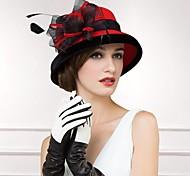 Women's Wool Headpiece-Casual Hats Round