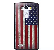 America Pattern Plastic Hard Case for LG G3
