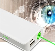 LT-OZ11 Power Bank Rechargeable Green Laser Pointer(1MW,532nm,1x18650,White)