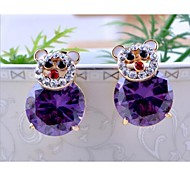 Love Is Your Fashion Cartoon Bear Zircon Earrings