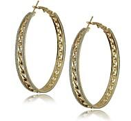 multicapas moda contratadas pendientes de aro grande de anillo