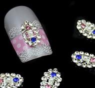 10pcs Oval Rhinestone Alloy Accessories Nail Art Decoration