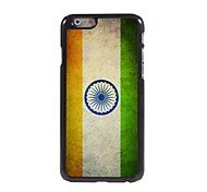 Vintage The Flag of India Pattern Aluminum Hard Case for iPhone 6