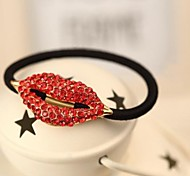 1pcs Sweet Fashion High Elastic Red Mouse Hair Tie