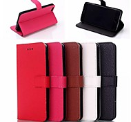 Leather Wallet Case Flip Leather Stand Cover with Card Holder for iPhone 6 (Assorted Colors)