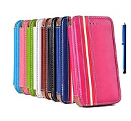 The European Style Leather Case with Stand Hold and Pen for iPhone 4/4S   (Assorted Colors)