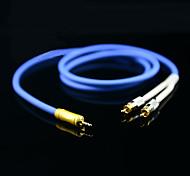3,5-mm-Stecker auf 2 RCA Stecker Audiokabel 1m 3.28ft