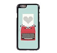 estuche rígido amor impresión de diseño de aluminio para el iphone 6