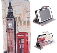 Big Ben and Red Gate Design PU Full Body Case with Stand with Card Slot for iPhone 5/5S