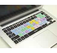 """ilustrador coosbo® ai teclas de acceso directo de silicona piel de la cubierta del teclado para 13.3 """", 15.4"""", 17 """"pro macbook air / retina"""